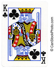 Playing Card - King of Club - King of clubs playing card,...