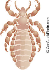 Louse - Vector image of simbol of  big louse