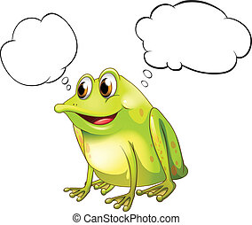 A green bullfrog with empty callouts - Illustration of a...
