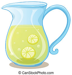 A pitcher of lemon juice - Illustration of a pitcher of...