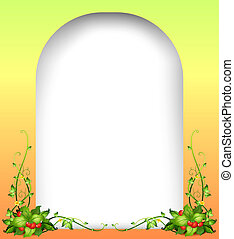 A blank space with vine plants - Illustration of a blank...