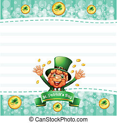 A stationery for St. Patrick's day with an old man