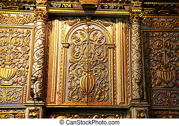 Torah Scrolls Cabinet. - Cupboard for Torah storage in the...