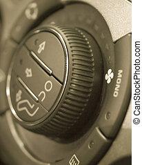 Climate control regulator in a car