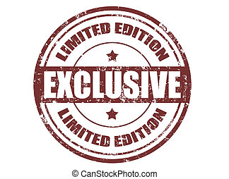 Exclusive stamp - Grunge rubber stamp with word exclusive...