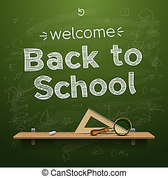 Back to school background, vector Eps10 illustration