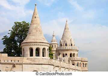 Fishermans Bastion in Budapest - Fishermans Bastion...