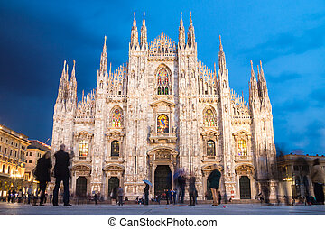 Milan Cathedral from the Square - Milan Cathedral Duomo di...