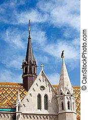 Matthias Church Architectural Details in Budapest