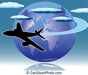 Air transport - The illustration on the theme of air...
