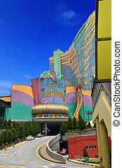 Genting highland building with blue background
