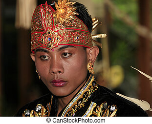 Bali groom - Attractive Bali groom in a traditional suit...