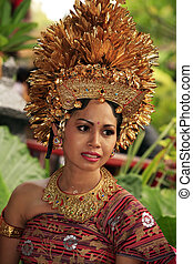 Bali bride - Attractive Bali bride in a traditional suit...