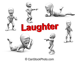 3d little person very loud laughs. Very funny