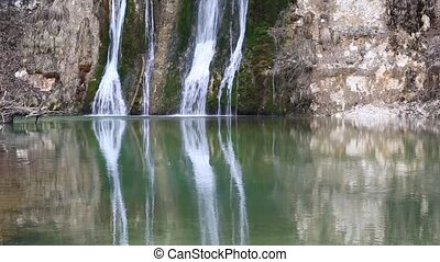 River Valsarine Waterfall - Waterfall and Valsarine river,...
