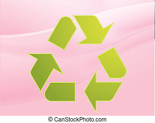 Recycling eco symbol illustration of three pointing arrows...