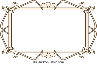 Vecto retro art deco isolated frame - Sweet retro art deco...