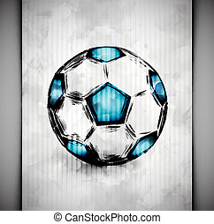 Soccer ball watercolor - Soccer ball in watercolor style Eps...
