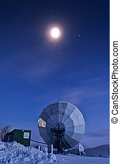 Satellite dish - Satellite broadcasting dish in...