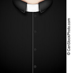 Costume priest - Black costume priest. Eps 10