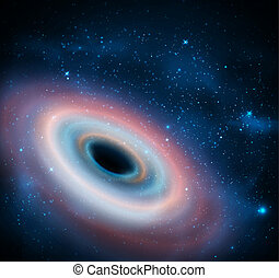 Black hole in universe. Eps 10