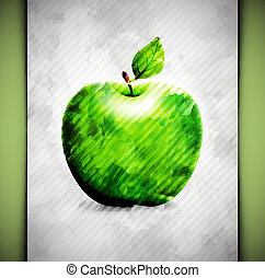 Apple watercolor - Apple in watercolor style. Eps 10