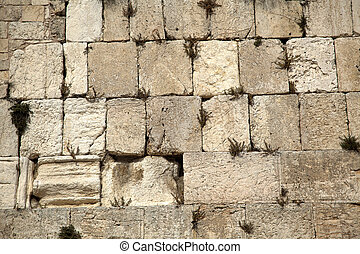 Wailing Wall - The Wailing Wall in the old city of...