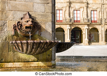 Gijon Plaza Marques Spain - Gijon, Asturias, Spain Lion...