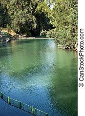 Jordan River Baptismal Site - A view at the Jordan river in...