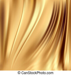 Gold silk backgrounds - Gold silk fabric for backgrounds,...