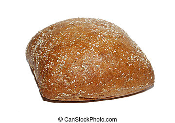 Rye bun - isolated on white