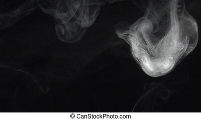 Alien smoke - slow smoke comes down. Real shots, no CGI or...
