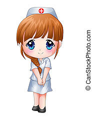Nurse - Cute cartoon illustration of a nurse