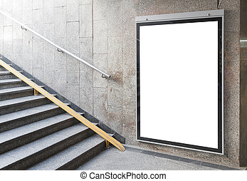 Blank billboard or poster in hall - Blank billboard or...