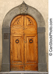 wooden residential doorway