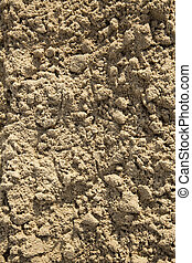 Ploughed Sand Texture - A close up of ploughed sand at the...
