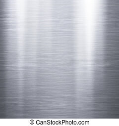 Brushed aluminum metallic plate - Metal background or...