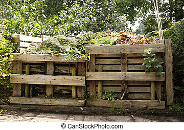 de madera, abono, cajón