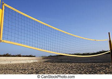 beach volleyball net protaras cyprus mediterranean