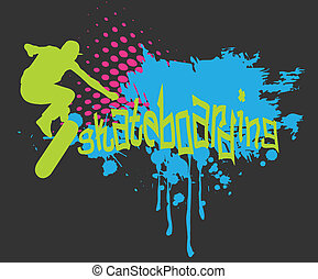 Graffiti skateboarding - Abstract background with...