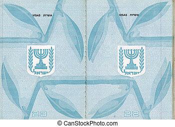 Blank Israeli Passport