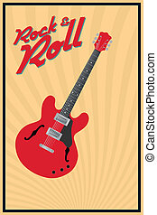Rock and roll - Vector rock and roll retro poster