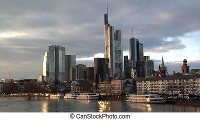 Frankfurt Germany Skyline birds cro - Frankfurt Germany...