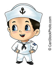 Sailor - Cute cartoon illustration of a sailor