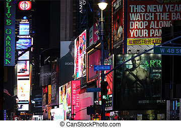 Times Square - NEW YORK, Times Square - January 9, 2013 - A...