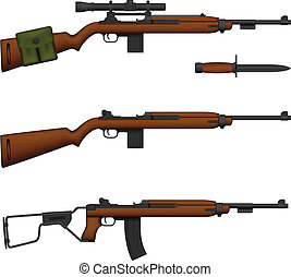 Carbine - Layered vector illustration of isolated Carbine