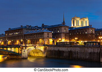 Ile de la cite, Paris, Ile de France, France