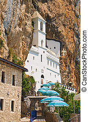 Ostrog monastery in Montenegro - old monastery of Ostrog...