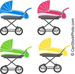 Colored strollers