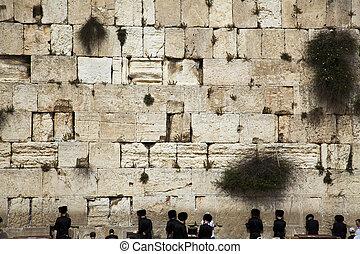 Prayers at the Wailing Wall